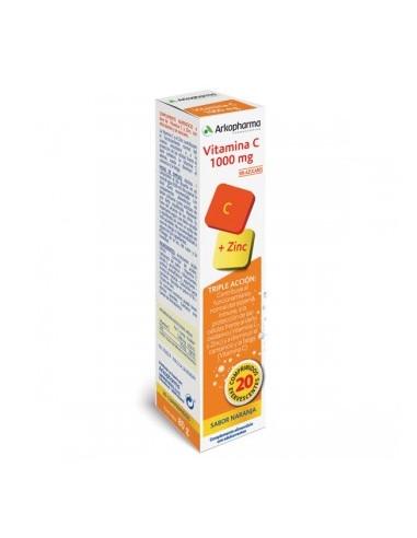 Vitamina C + Zinc 20 comprimidos...